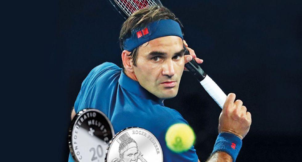 ¡Increíble! Roger Federer aparecerá en monedas suizas