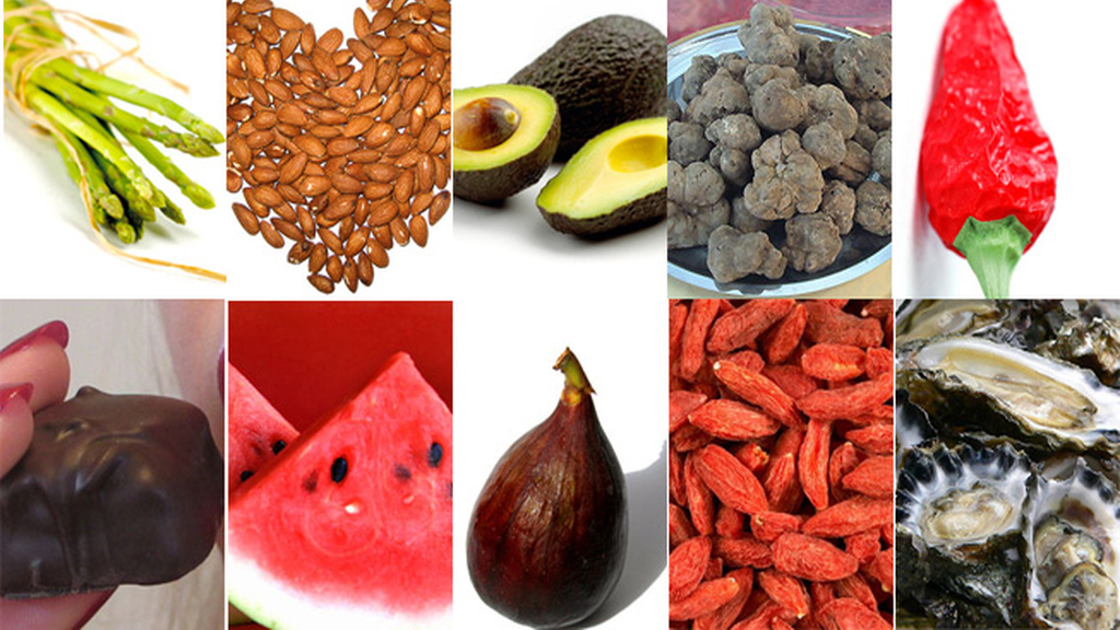 Los alimentos más afrodisiacos