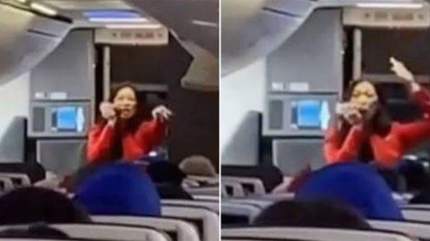 Escucha a la Azafata rapeando las instrucciones de vuelo